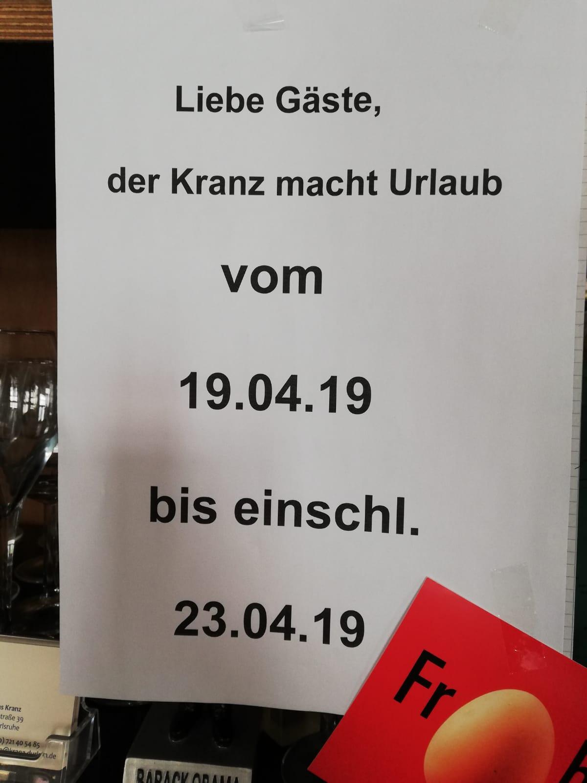 Kranz Durlach Events 2019 Pfingsten